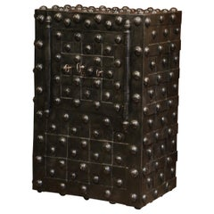 Mid-19th Century French Wrought Iron Hobnail Studded Safe by Magaud De Charf