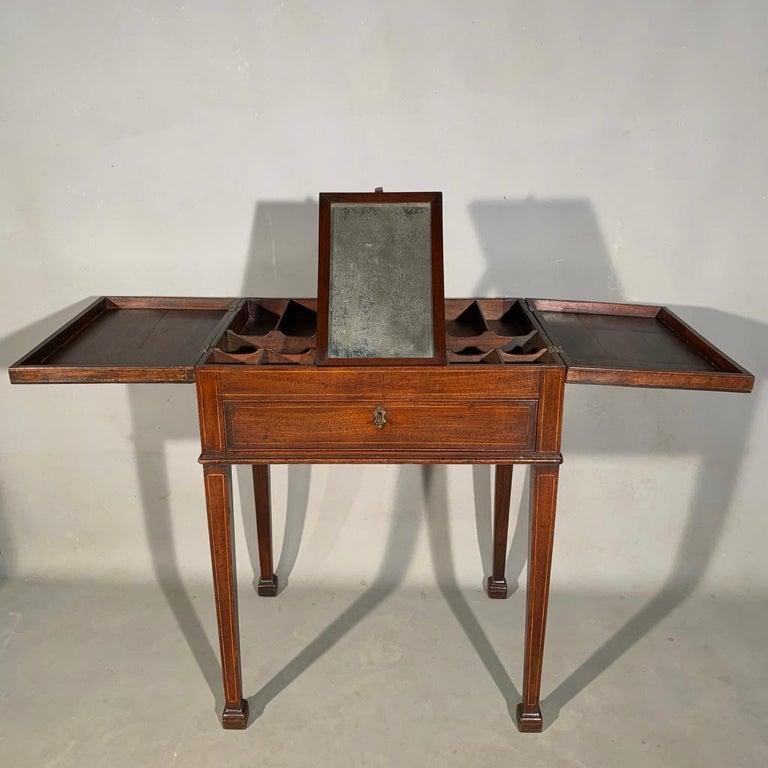Very unusual mid-19th century gentleman's vanity table, stamped
