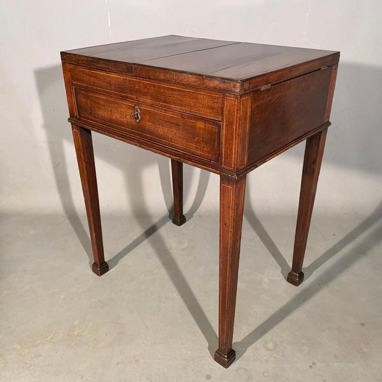 Georgian Mid-19th Century Gentleman's Vanity Table, Stamped