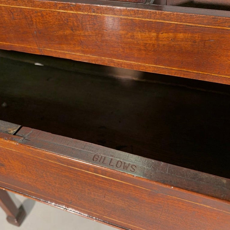 Mid-19th Century Gentleman's Vanity Table, Stamped