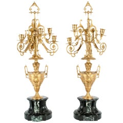 Mid-19th Century Gilt Bronze Five Arms Candelabra
