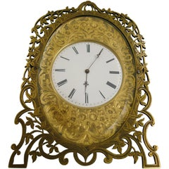 Mid-19th Century Gilt Bronze Strut Clock in the Style of Cole
