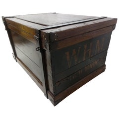 Mid-19th Century Handcrafted Wood & Iron Steamer Trunk