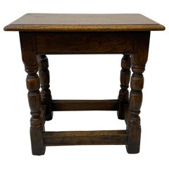Mid 19th Century Hand Made Oak Bench / Side Table, C.1850