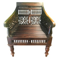 Mid-19th Century Hardwood Victorian Moorish Chair