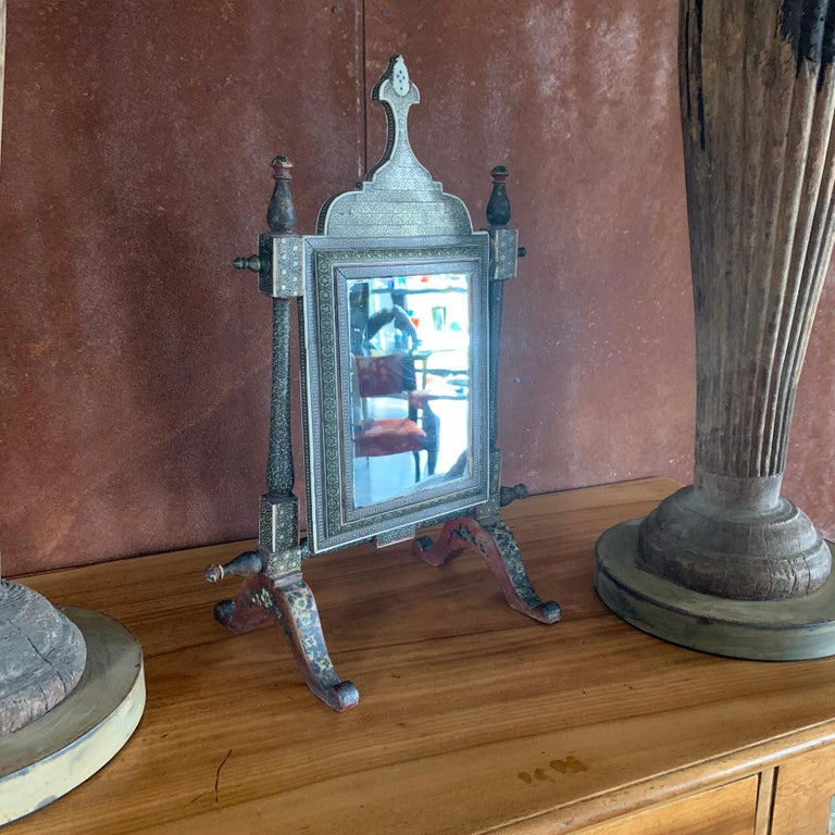 Mid-19th Century Indian Table Mirror For Sale 6