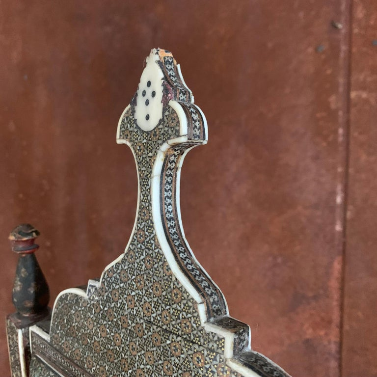 Mid-19th Century Indian Table Mirror For Sale 8