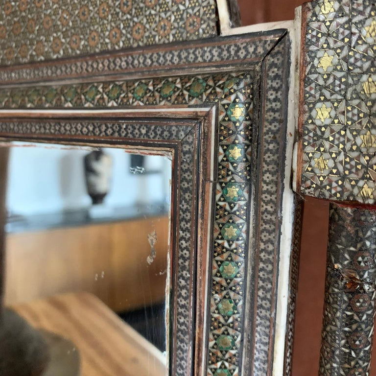 Wood Mid-19th Century Indian Table Mirror For Sale