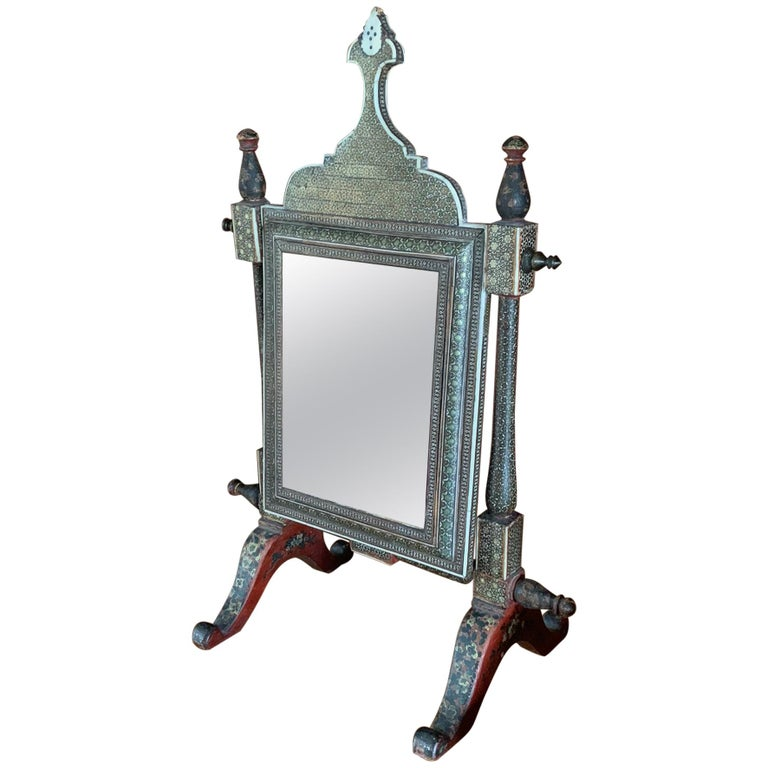 Mid-19th Century Indian Table Mirror For Sale