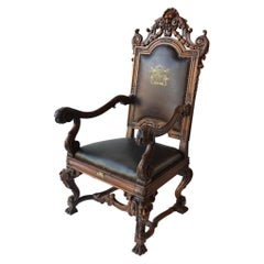Mid-19th Century Italian Baroque Style Armchair