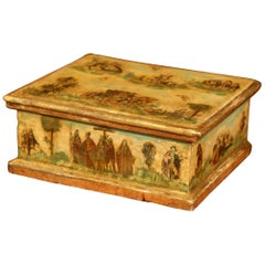 Mid-19th Century Italian Carved and Painted Decorative Box