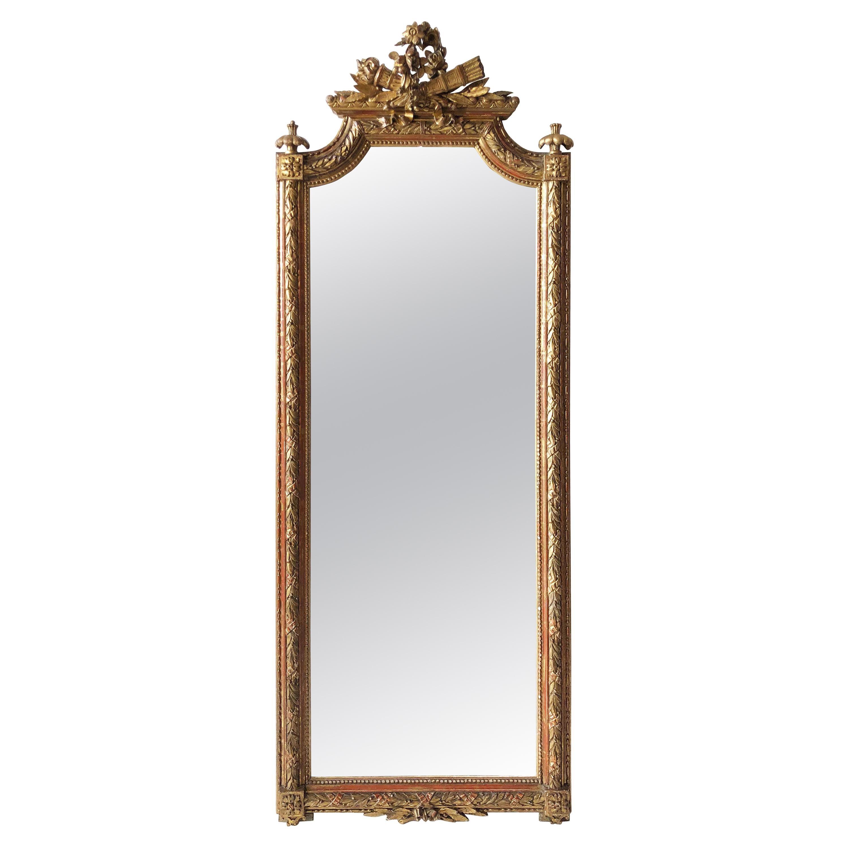 Mid-19th Century Italian Carved Giltwood Mirror