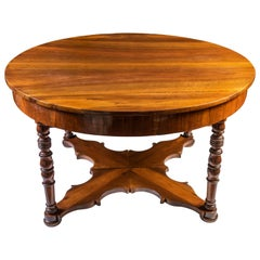 Mid-19th Century Italian Extending Oval Walnut Dining Table Louis Philippe