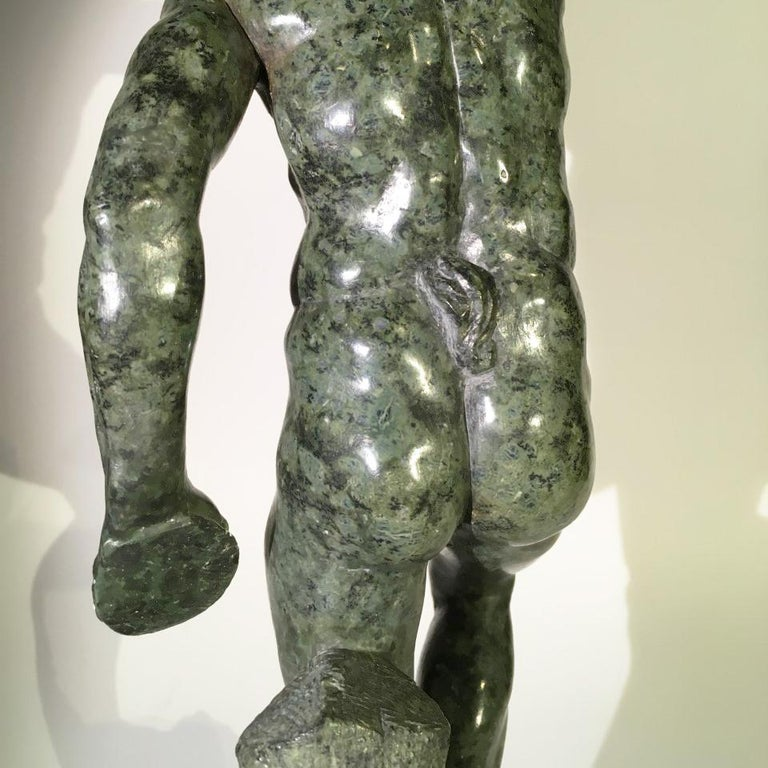 Mid-19th Century Italian Marble Sculpture of a Dancing Satyr For Sale 13