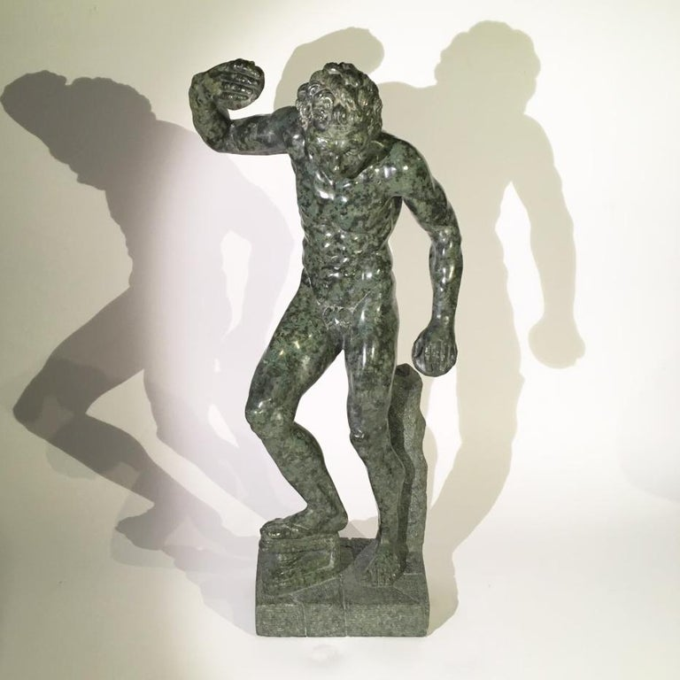 Mid-19th Century Italian Marble Sculpture of a Dancing Satyr In Good Condition For Sale In Firenze, Tuscany
