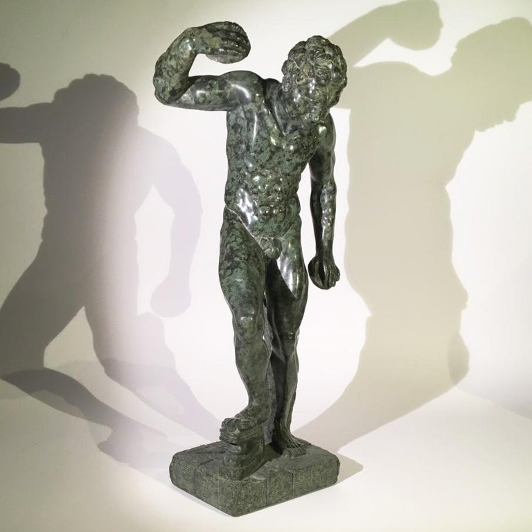 18th Century Mid-19th Century Italian Marble Sculpture of a Dancing Satyr For Sale