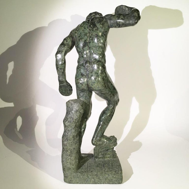 Mid-19th Century Italian Marble Sculpture of a Dancing Satyr For Sale 2