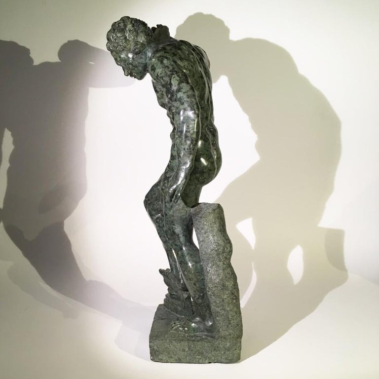 Mid-19th Century Italian Marble Sculpture of a Dancing Satyr For Sale 4