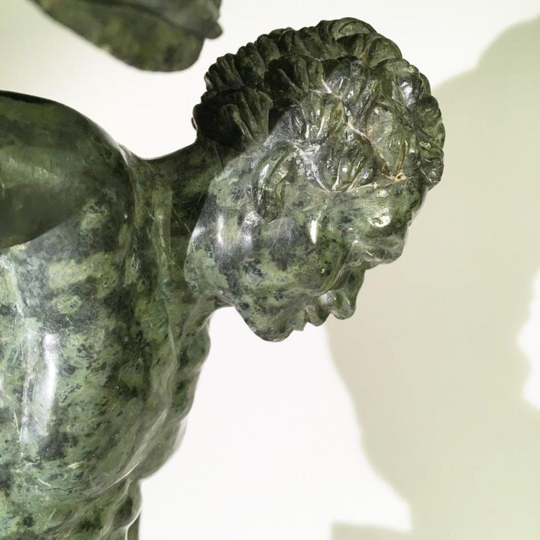 Mid-19th Century Italian Marble Sculpture of a Dancing Satyr For Sale 5