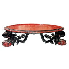 Mid-19th Century Lacquered Tray Table from Thailand