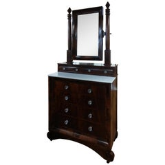 Mid-19th Century Large Empire Dresser with Mirror