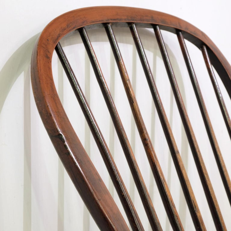 Mid-19th Century Lincolnshire Stick Back Windsor Chair in Ash and Elm, Original 1