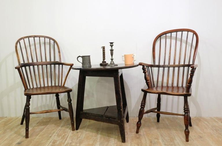 Mid-19th Century Lincolnshire Stick Back Windsor Chair in Ash and Elm, Original 2