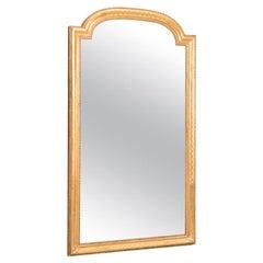 Mid-19th Century Louis Philippe Original Glass Giltwood Golden Frame Mirror