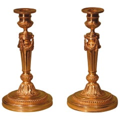 Mid-19th Century Louis XVI Ormolu Candlesticks
