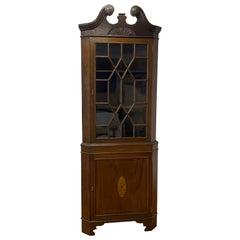 Mid 19th Century Mahogany Corner Cabinet, C.1870