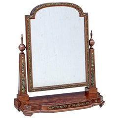 Mid 19th Century Mahogany Dressing Mirror with Pea Shell Inlay