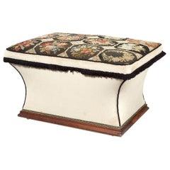 Mid-19th Century Mahogany, Needlepoint and Upholstered Ottoman