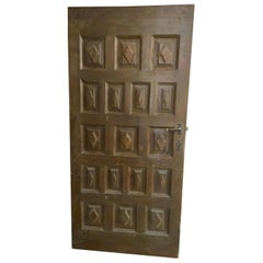 Mid-19th Century Maple Door from Spain