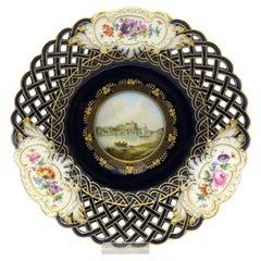 Mid-19th Century Meissen Landscape Dekorative Plate