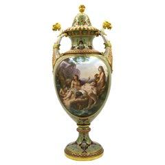 Mid-19th Century Meissen Magnificent Vase Model by E.A. Leuteritz