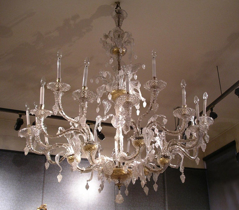 Glamourous, elegant and fine, some of the words we can use to describe this one of a kind chandelier, originally made in Murano, Venice, Italy in circa 1850. Perfect in a contemporary home or a Classic one, this is a timeless chandelier.  The form
