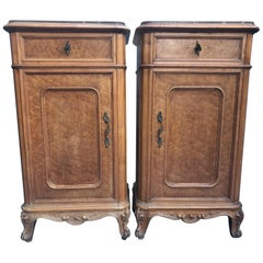 Mid-19th Century Nightstands with Black Marble in Maple Rarity