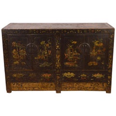 Mid-19th Century Northern Elm Chinese Chest