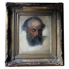 Mid-19th Century Oil on Canvas Portrait of a Bearded Gentleman, circa 1840-1860
