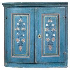 Mid 19th Century Painted Swedish Folk Art Inspired Cupboard