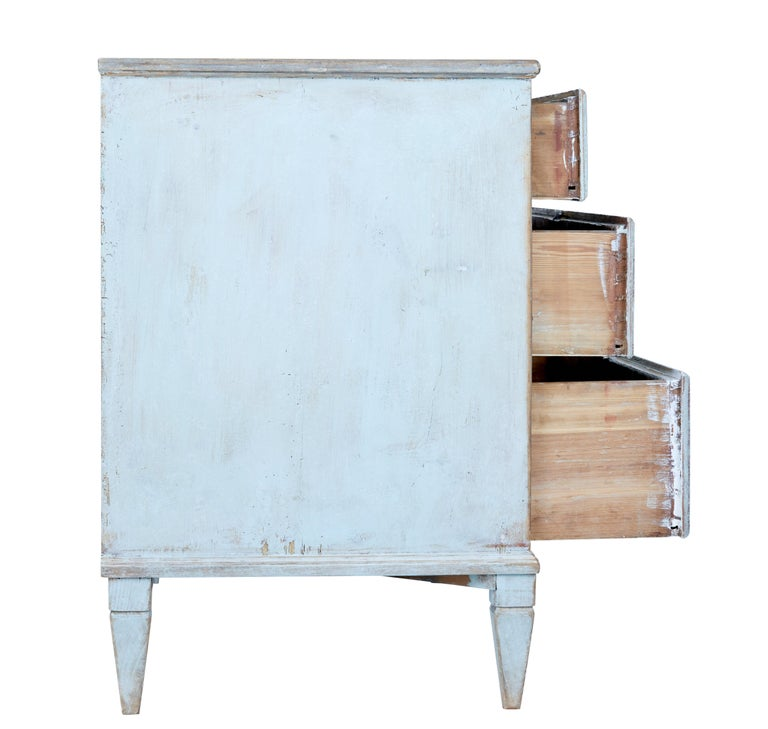 Mid-19th Century Painted Swedish Pine Chest of Drawers 5