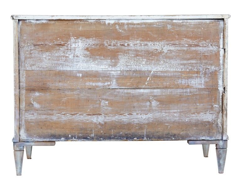 Mid-19th Century Painted Swedish Pine Chest of Drawers 6