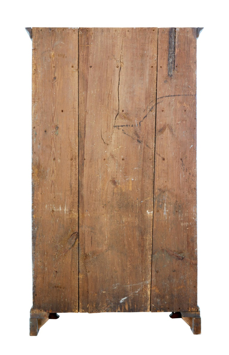 Mid-19th Century Painted Swedish Pine Tall Cupboard For Sale 1