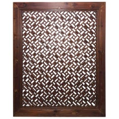 Mid-19th Century Peachwood Window Screen from Sianxi, China