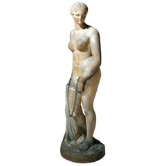 Mid-19th Century Plaster Figure 'The Greek Slave' after Hiram Powers, c.1844-70