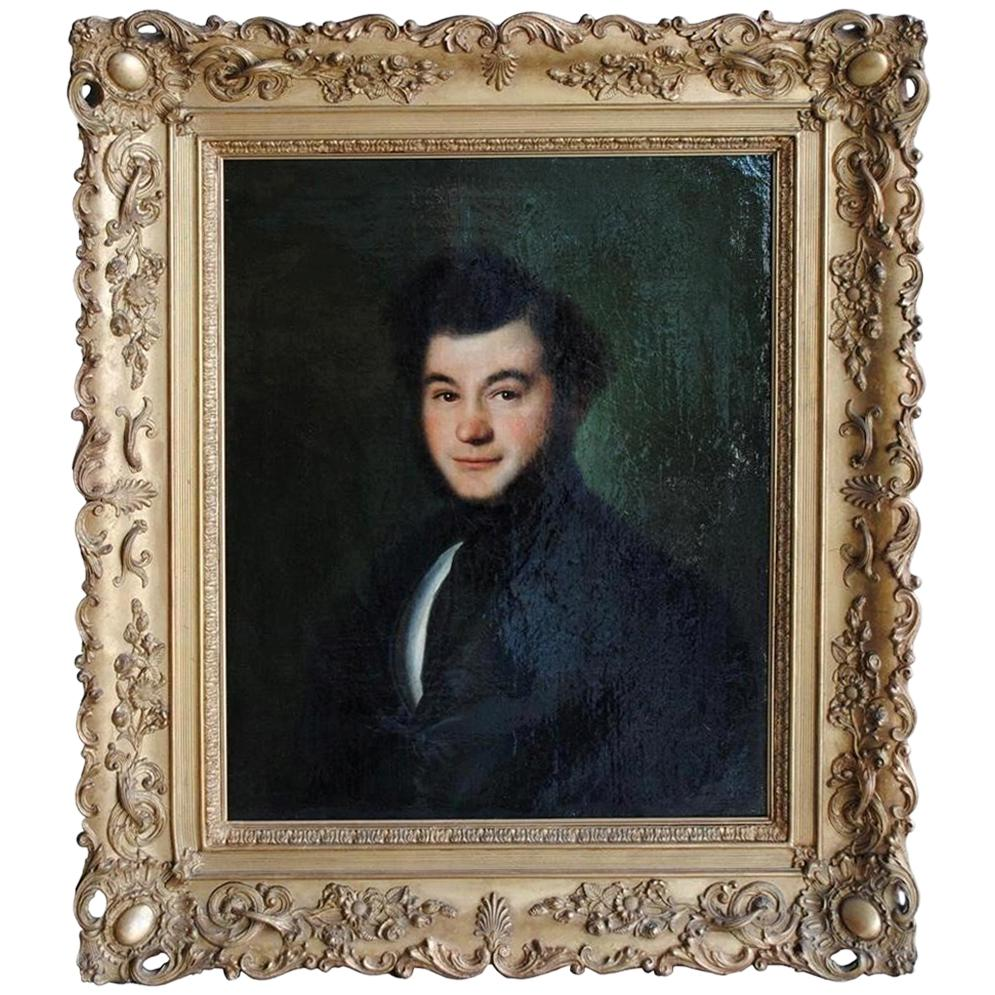 Mid-19th Century Portrait Young Man Signed Esperandieu