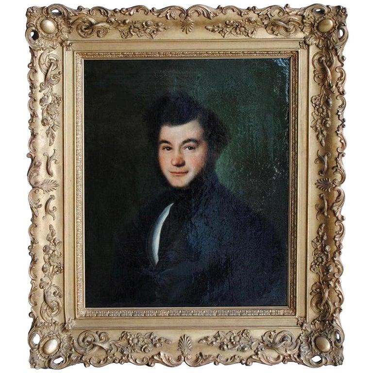 Mid-19th Century Portrait Young Man Signed Esperandieu For Sale