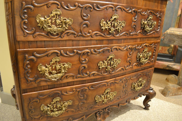 Carved Mid-19th Century Portuguese Commode For Sale