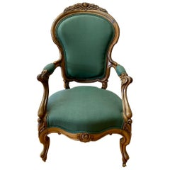 Mid-19th Century Rococo Revival Armchair Attributed to John Henry Belter