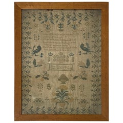 Mid-19th Century Sampler by Jane Richards Aged 10 Years, 1845